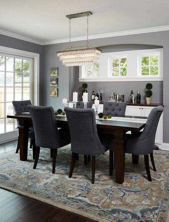 grey dining room 1