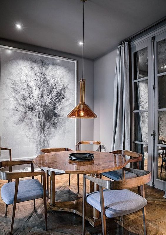 grey dining room 16