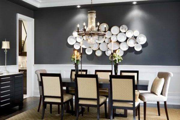grey dining room feature