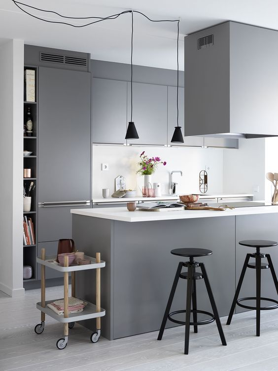 grey kitchen decoration 1