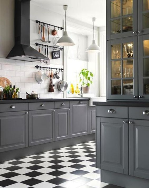 grey kitchen decoration 13