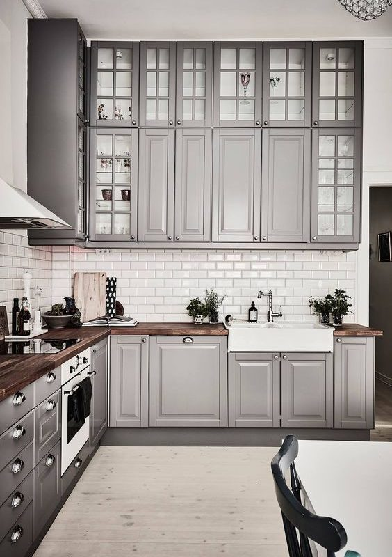grey kitchen decoration 14