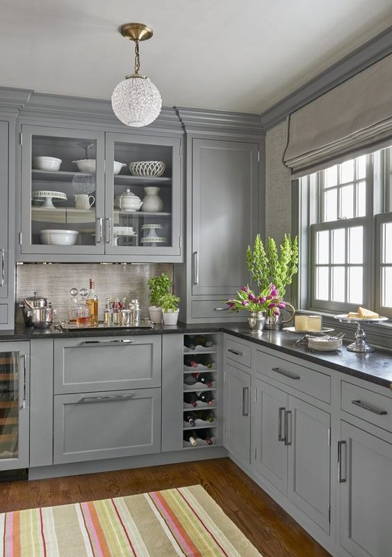 grey kitchen decoration 18