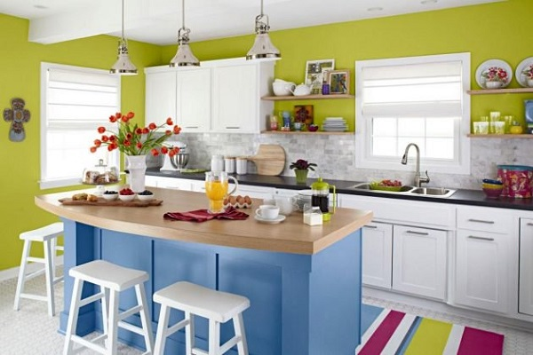 kitchen color combination feature