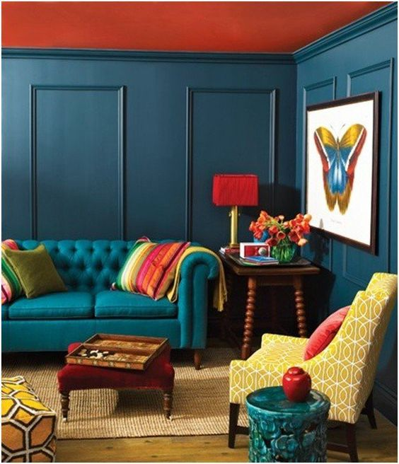 living room color combination 4