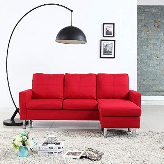 red living room couch 1-min