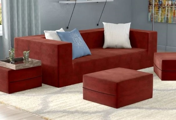 red living room couch 11-min