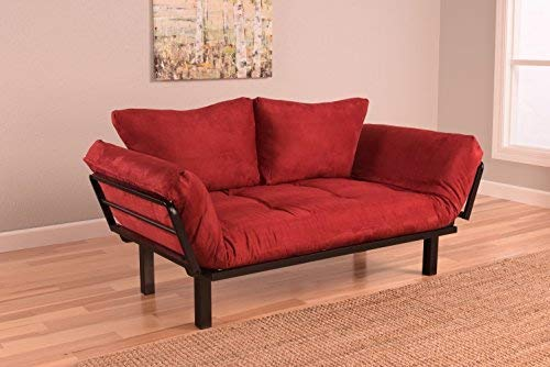 red living room couch 12-min