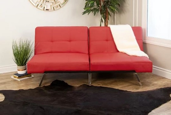 red living room couch 13-min