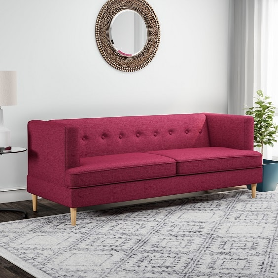 red living room couch 14-min