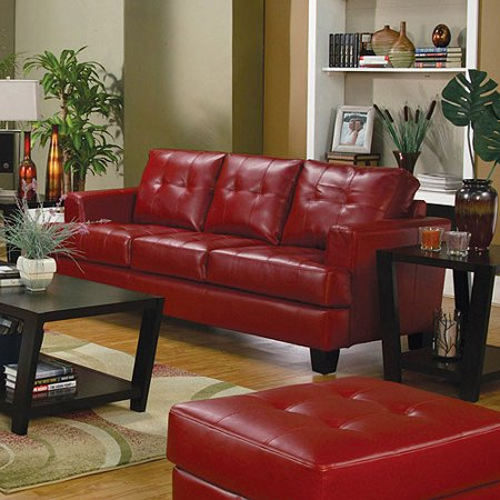 red living room couch 15-min