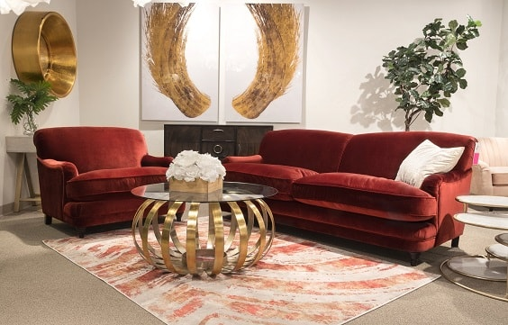 red living room couch 18-min
