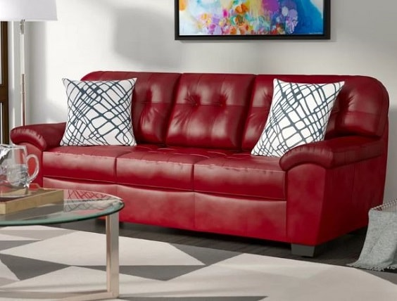 red living room couch 19-min