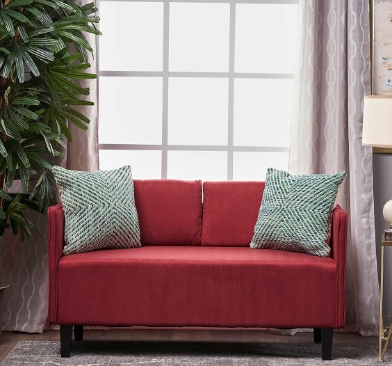 red living room couch 20-min
