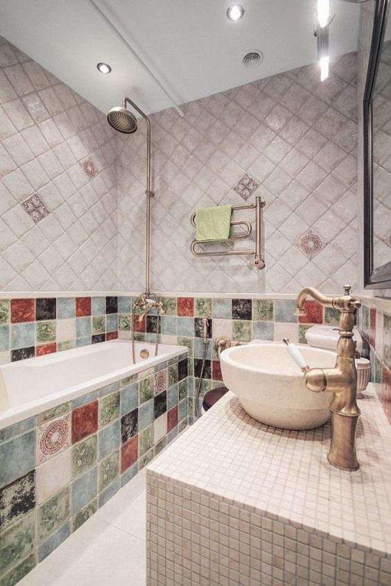 eclectic bathroom 0