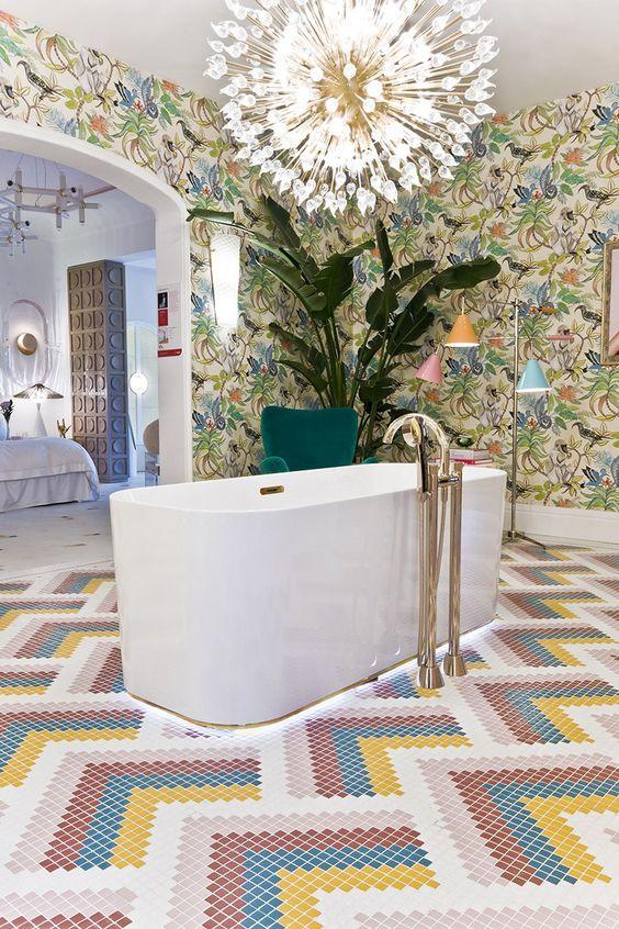 eclectic bathroom 11