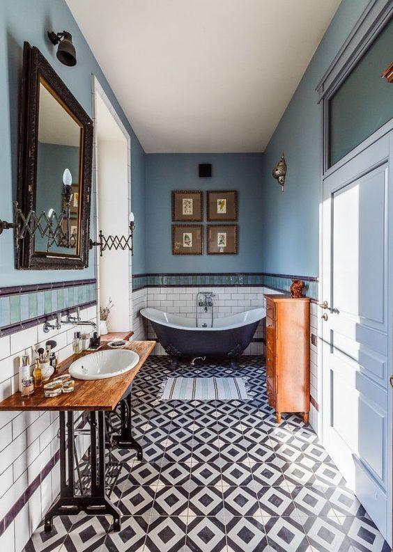 eclectic bathroom 13