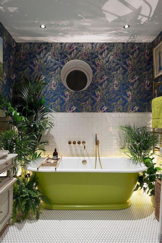 eclectic bathroom 15