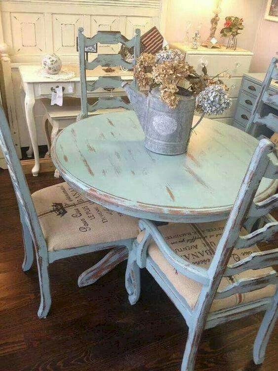 shabby chic dining room 10