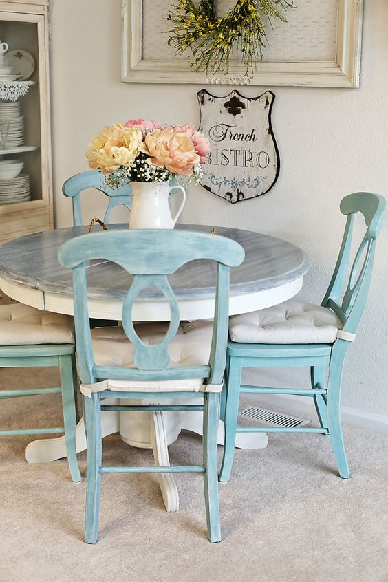 shabby chic dining room 11