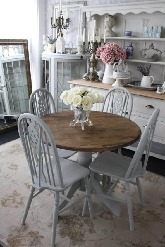 shabby chic dining room 12