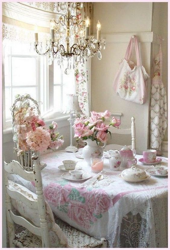 shabby chic dining room 17