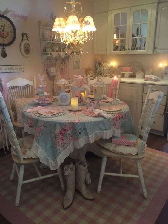 shabby chic dining room 18