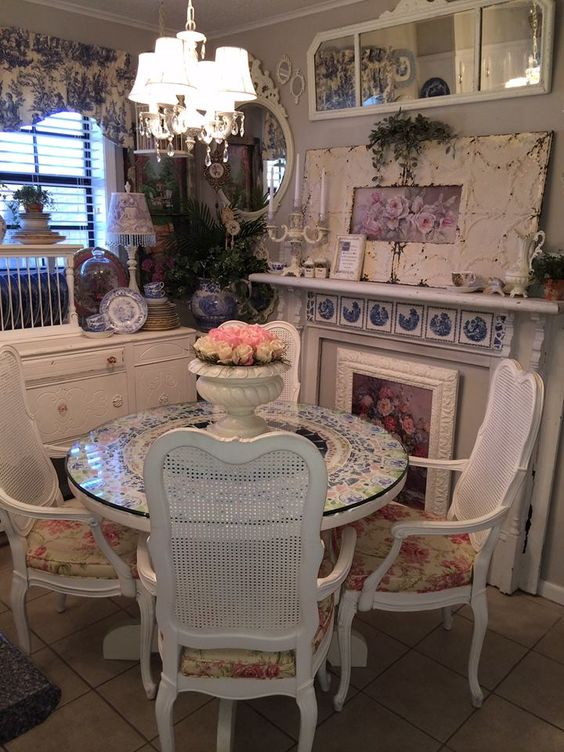 shabby chic dining room 19