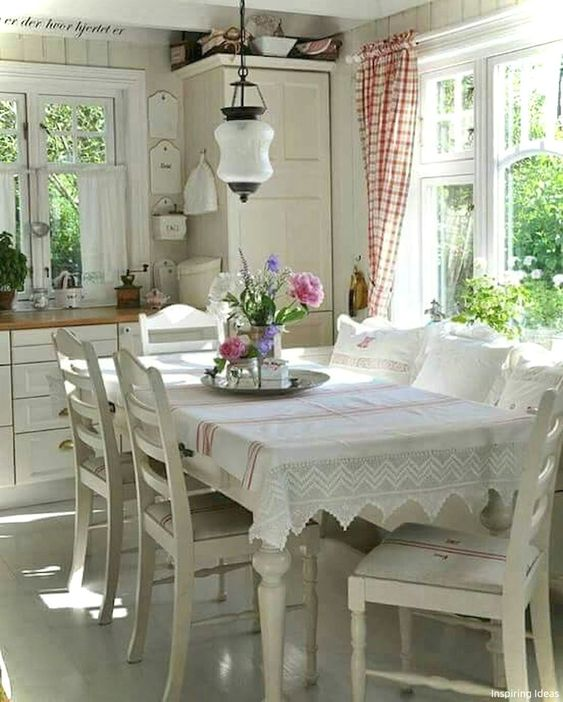 shabby chic dining room 20
