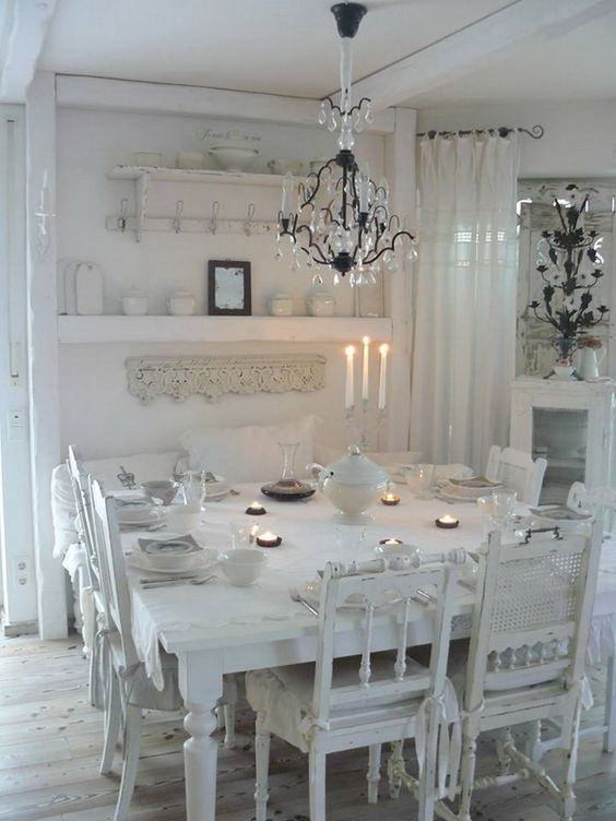 shabby chic dining room 21