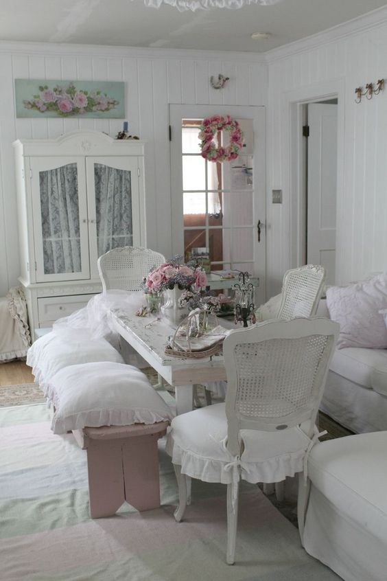 shabby chic dining room 23