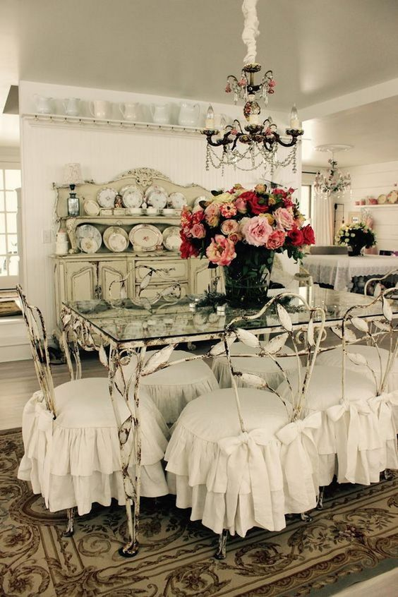 shabby chic dining room 25