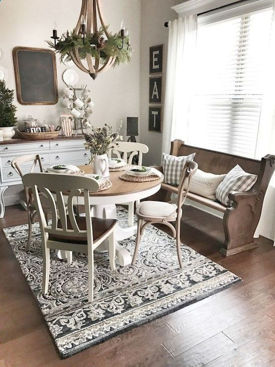 shabby chic dining room 9