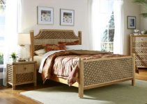 wicker bedroom feature
