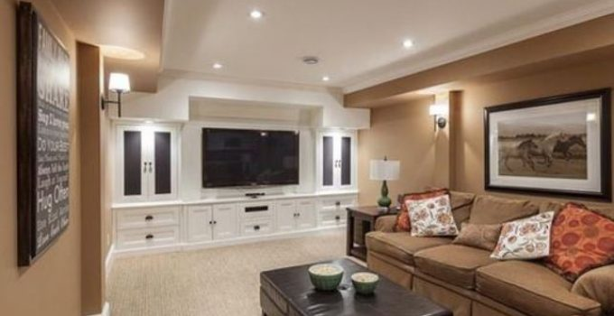 windowless living room feature