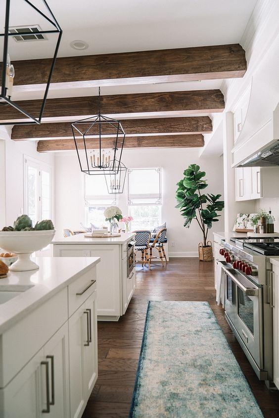beamed kitchen ideas 13