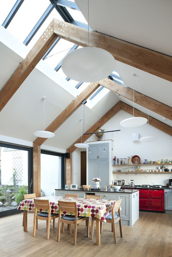 beamed kitchen ideas 14
