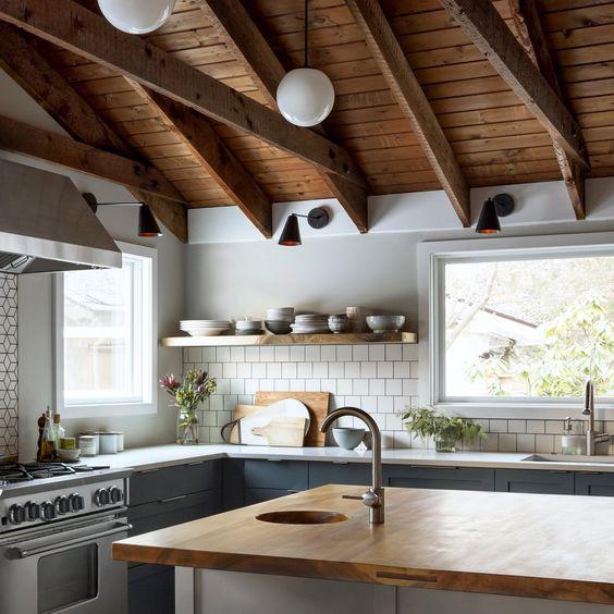 beamed kitchen ideas 15