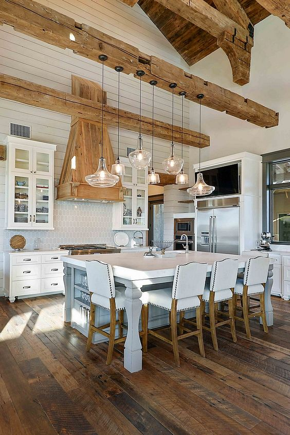 beamed kitchen ideas 16