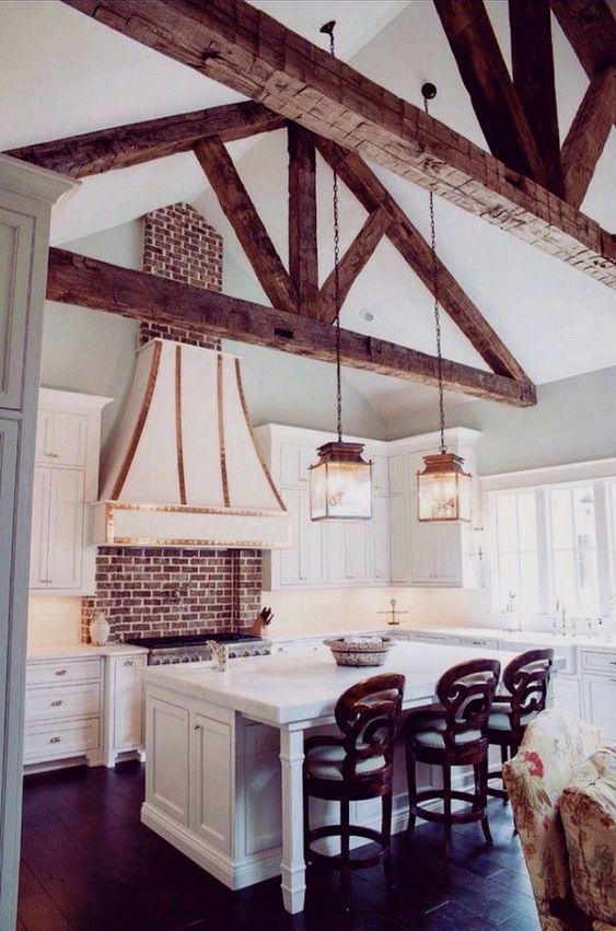 beamed kitchen ideas 17