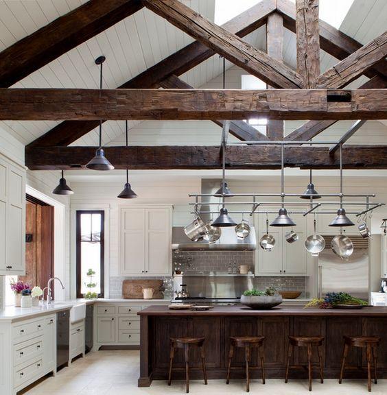 beamed kitchen ideas 18