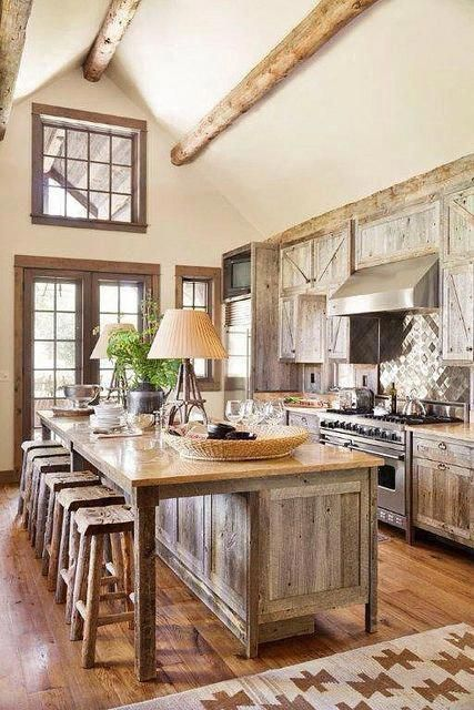 beamed kitchen ideas 22
