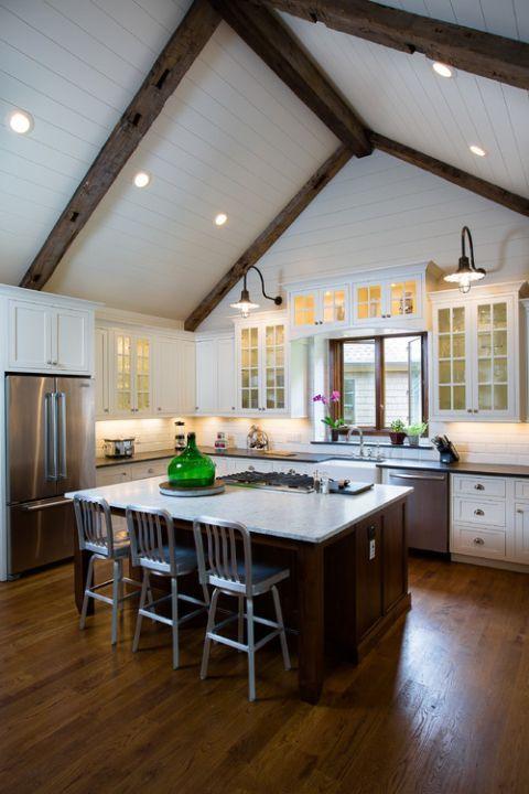 beamed kitchen ideas 24