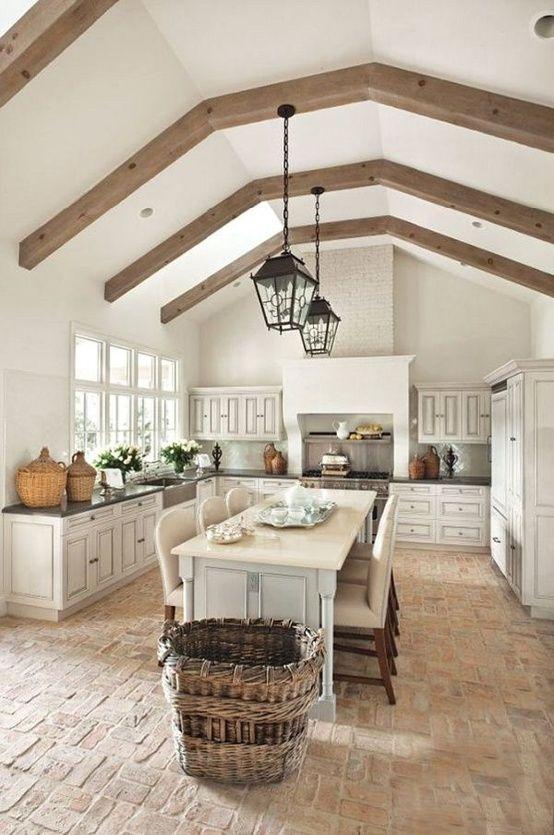 beamed kitchen ideas 25