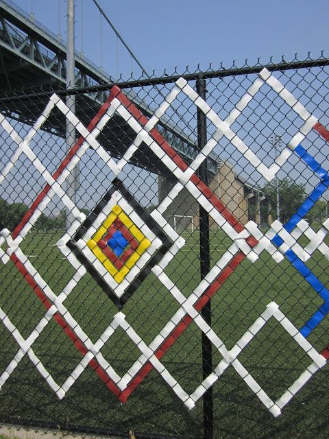 chainlink fence ideas 12