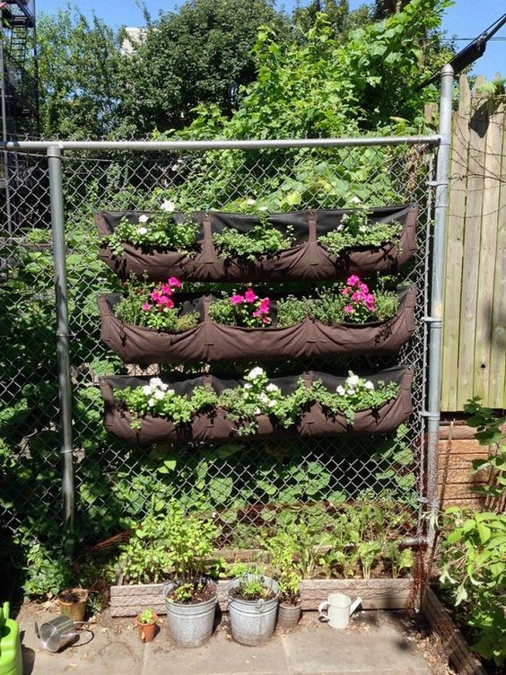 chainlink fence ideas 25