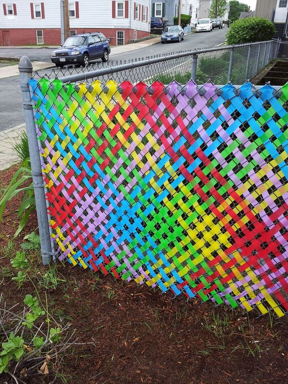 chainlink fence ideas 9