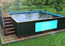 container swimming pool feature