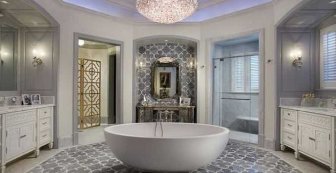 glamour bathroom feature