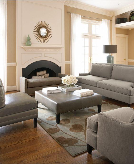 khaki living room 1